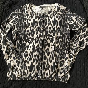 The Limited Ocelot Print Cardigan NWT